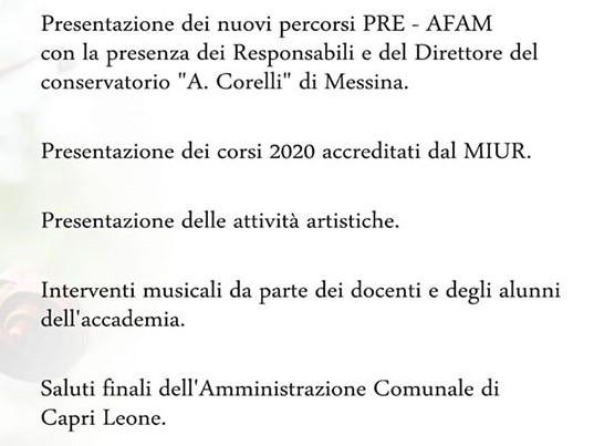 Inaugurazione Accademia 2019-20 interno
